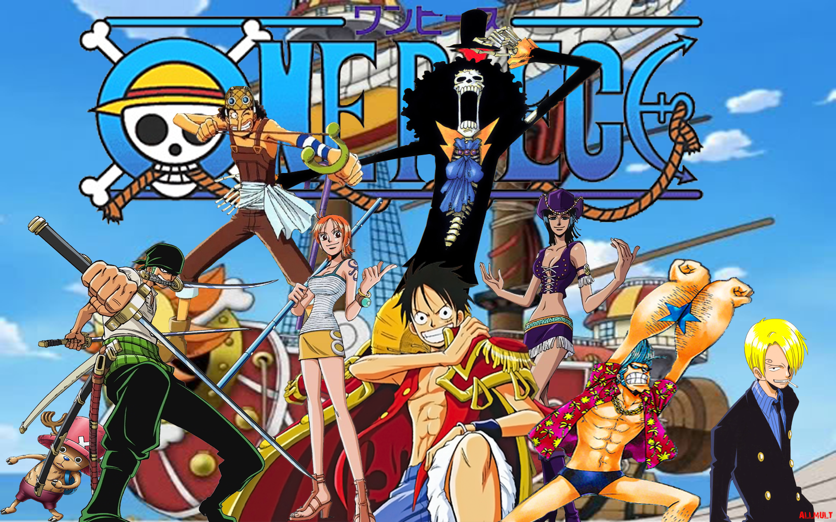 one piece animated - HD 1680×1050
